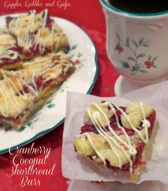 Shoprite Christmas Lights: Cranberry Coconut Shortbread Bars