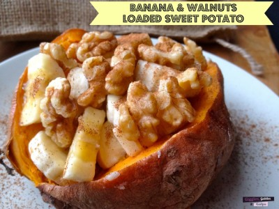 Loaded Sweet Potato Banana Walnut Breakfast Recipe