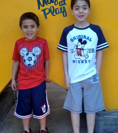 GGG Boys Visit Disney + Kohls Magic at Play Disney Apparel by Jumping Beans