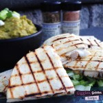 The Spice House Jamaican Jerk Chicken Quesadilla with Vulcan Fire Salt Guacamole