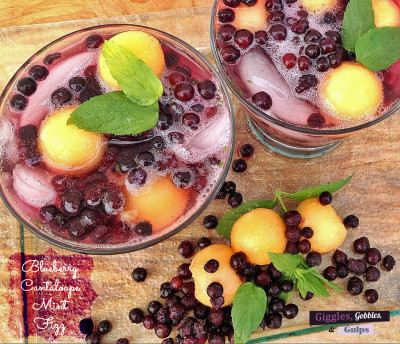 Wild Blueberry Cantaloupe Mint Fizz