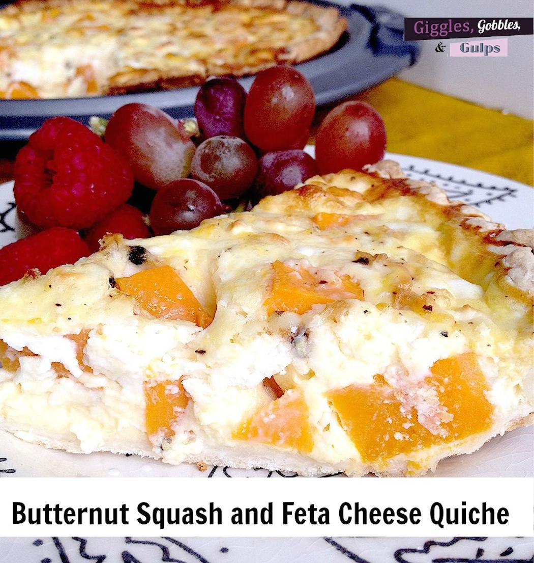 butternut squash feta cheese quiche