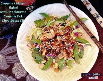 Sesame Chicken with Eat Smart Sesame Bok Choy Salad Kit