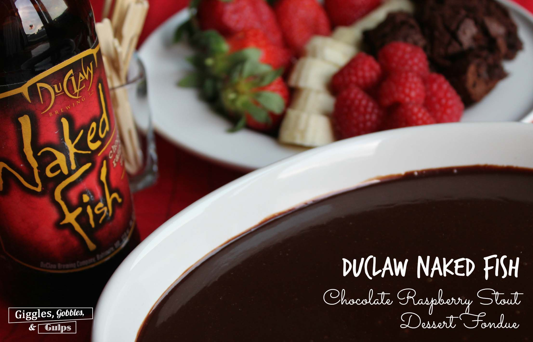 Chocolate Raspberry Stout Fondue