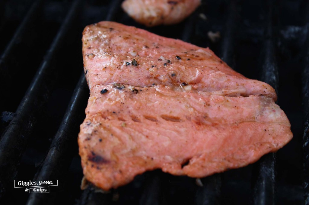 grilled salmon with hot sauce marinade2