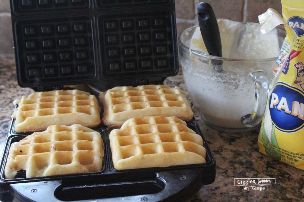 cornmeal chicken and waffles2