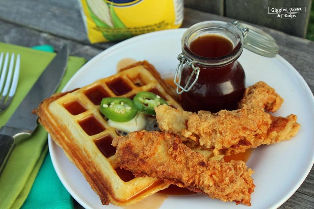 cornmeal chicken and waffles5