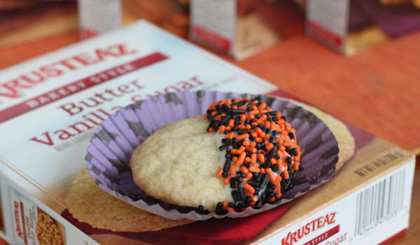 Halloween Sprinkle Sugar Cookies with Krusteaz