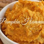 Simple Pumpkin Hummus with Pita Chips