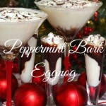 Peppermint Bark Eggnog (Martini or Shooter)