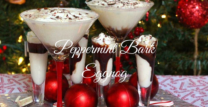 Peppermint Bark Eggnog (Martini or Shooter)