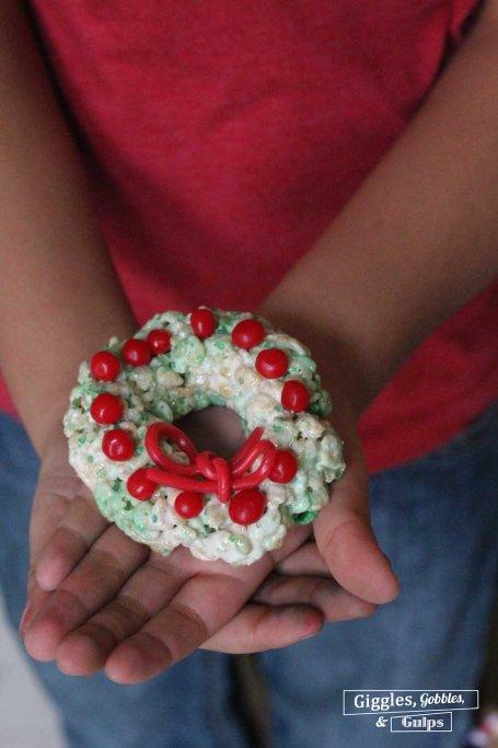 Rice Krispie Christmas Wreaths3