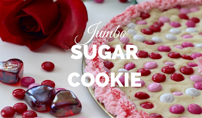 Jumbo Sugar Cookie for Valentine's Day   Mini Chef Mondays