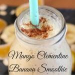 Mango Clementine Banana Smoothie | Mini Chef Mondays