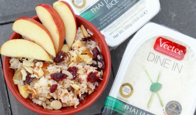 Basmati Rice Salad with Apples, Cranberries, Coconut and Almonds