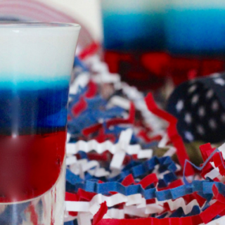 Red, White and Blue Layered Shot