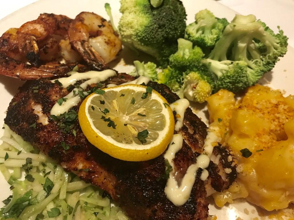 Wood-Grilled Grouper & Shrimp