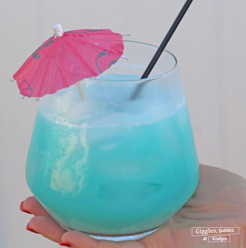 Sparkling Blue Hawaiian Cocktail