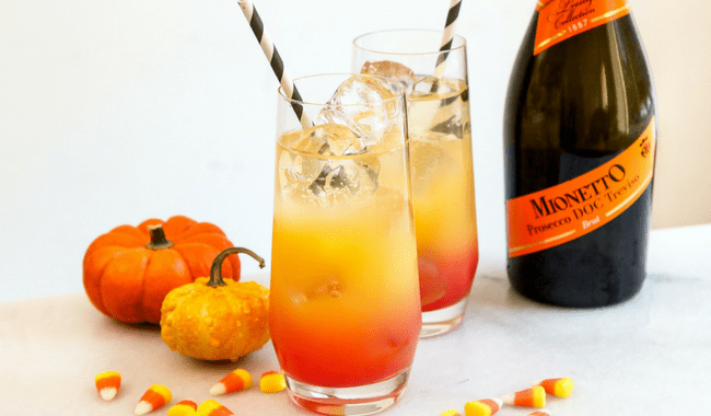 Candy Corn Cocktail for Halloween