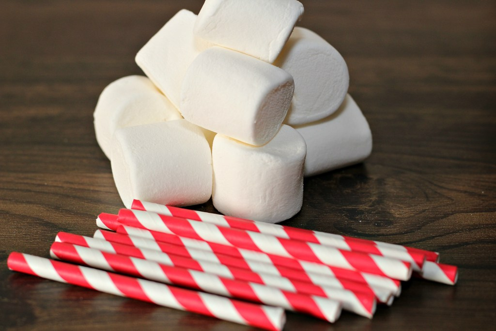 Candy Cane Marshmallow Pops