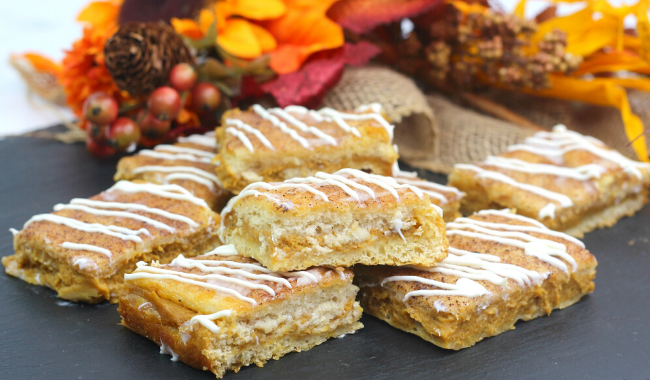Pumpkin Churro Cheesecake Bars