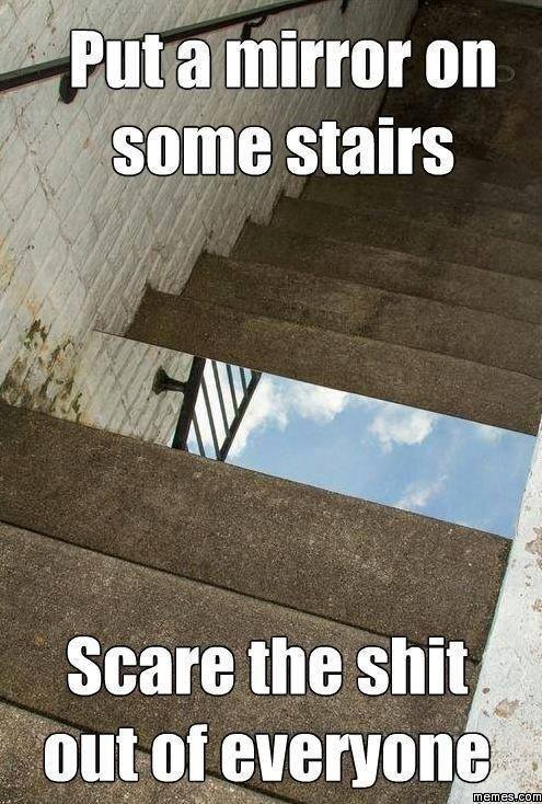 mirror-on-stairs