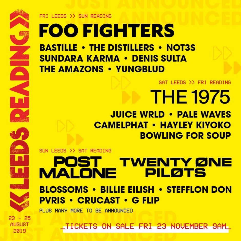 Reading and Leeds - 1st poster