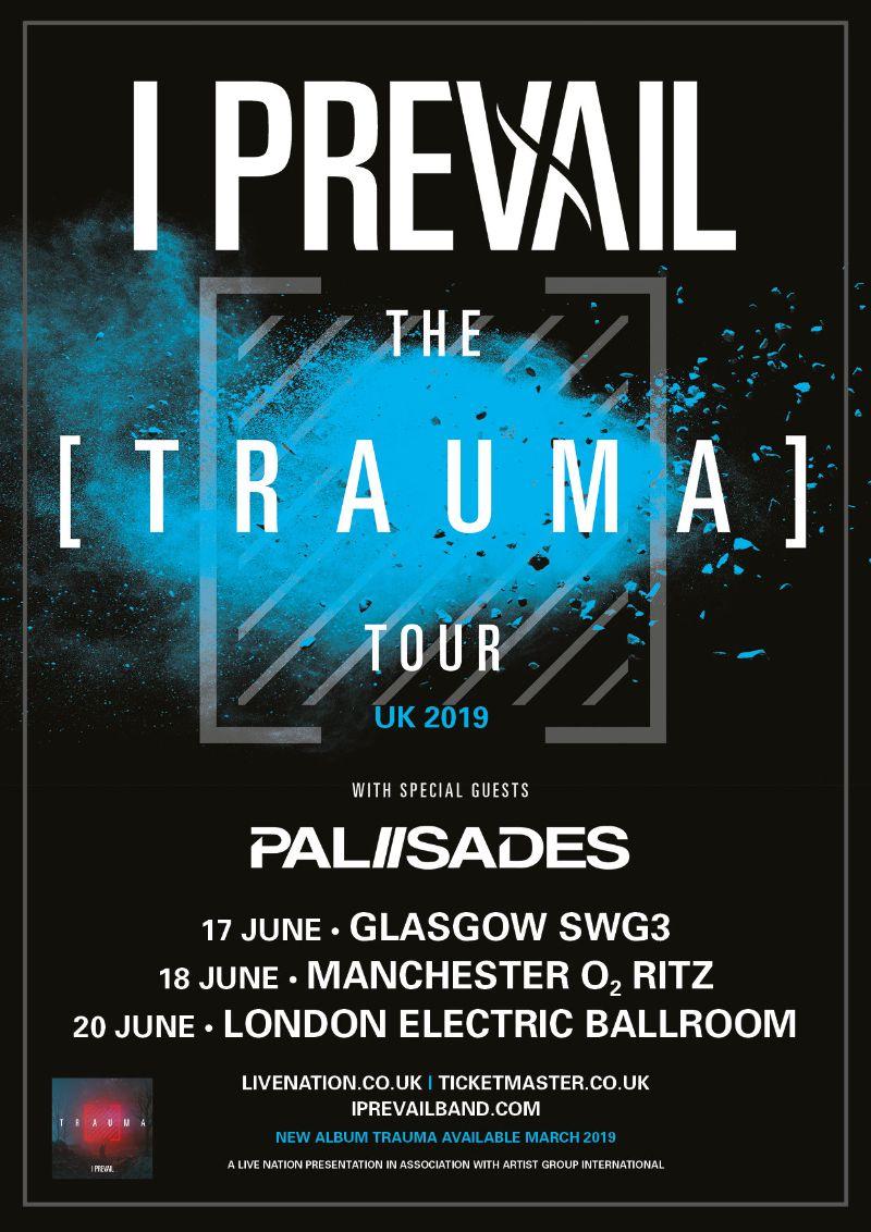 I Prevail tour 2019