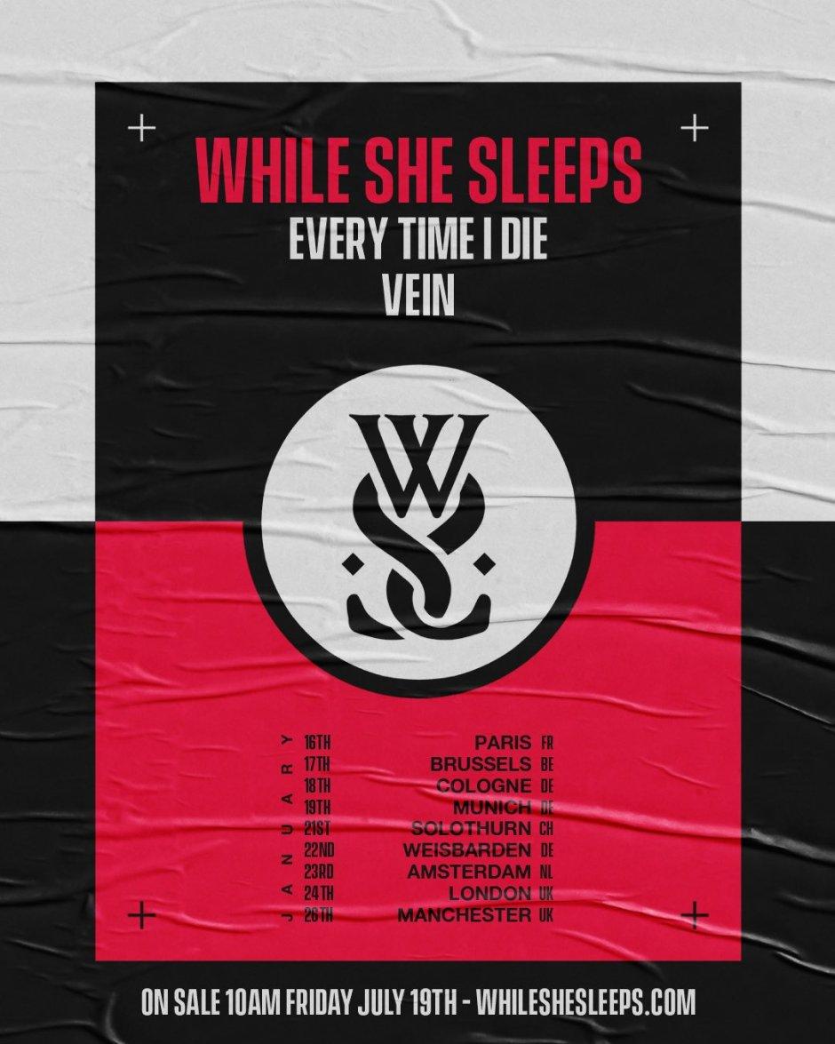 While She Sleeps tour 2020