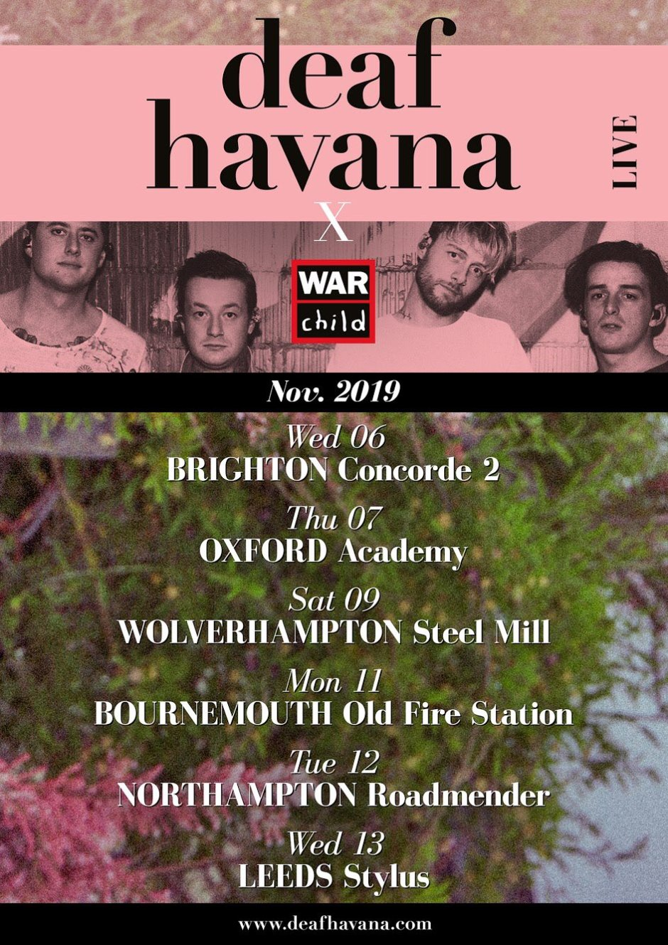 Deaf Havana UK Tour 2019