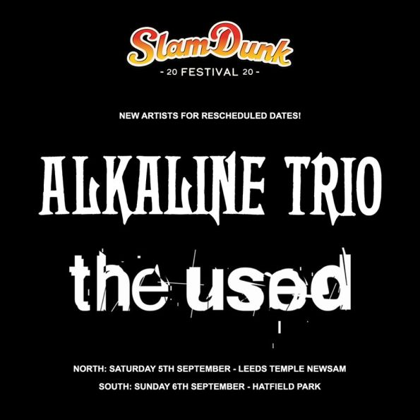 Slam Dunk The Used Alkaline Trio 2020