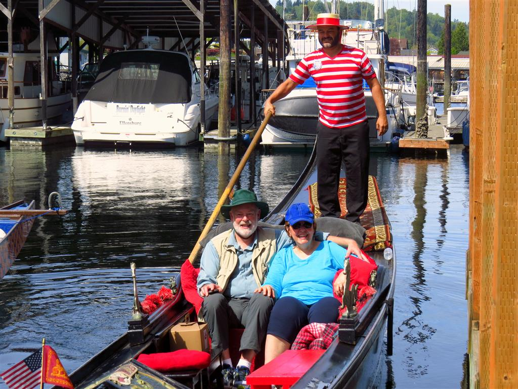 Warm Weather Calls for Gondola Cruise | Gig Harbor Marina