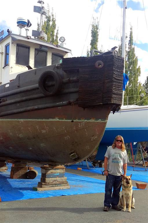Old Tug Surveyed for New Owner | Gig Harbor Marina & Boatyard