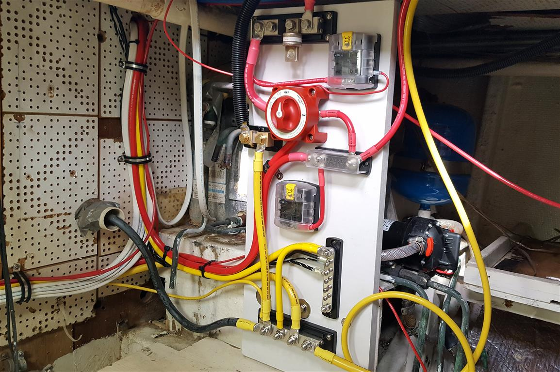 Yacht Technician Lance McDonoughu0027s wiring upgrade involved a new DC power distribution system including a new on-board battery charger ... : yacht wiring - yogabreezes.com