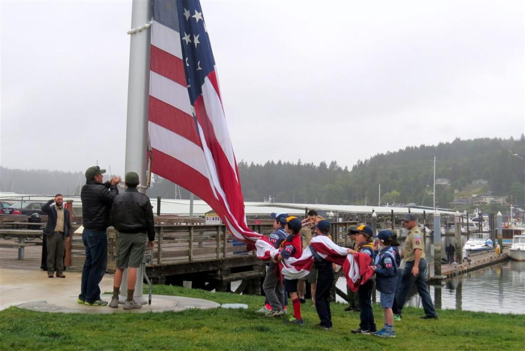flag raising on Flag Day