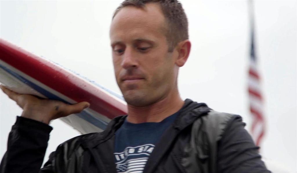 Mike McCallum with canoe