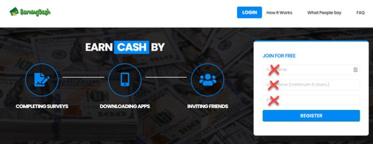 EarningCash Homepage