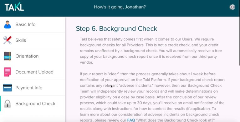 How To Sign Up As a Provider With Takl Step By Step Tutorial 2