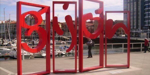 Letrero de Gijón