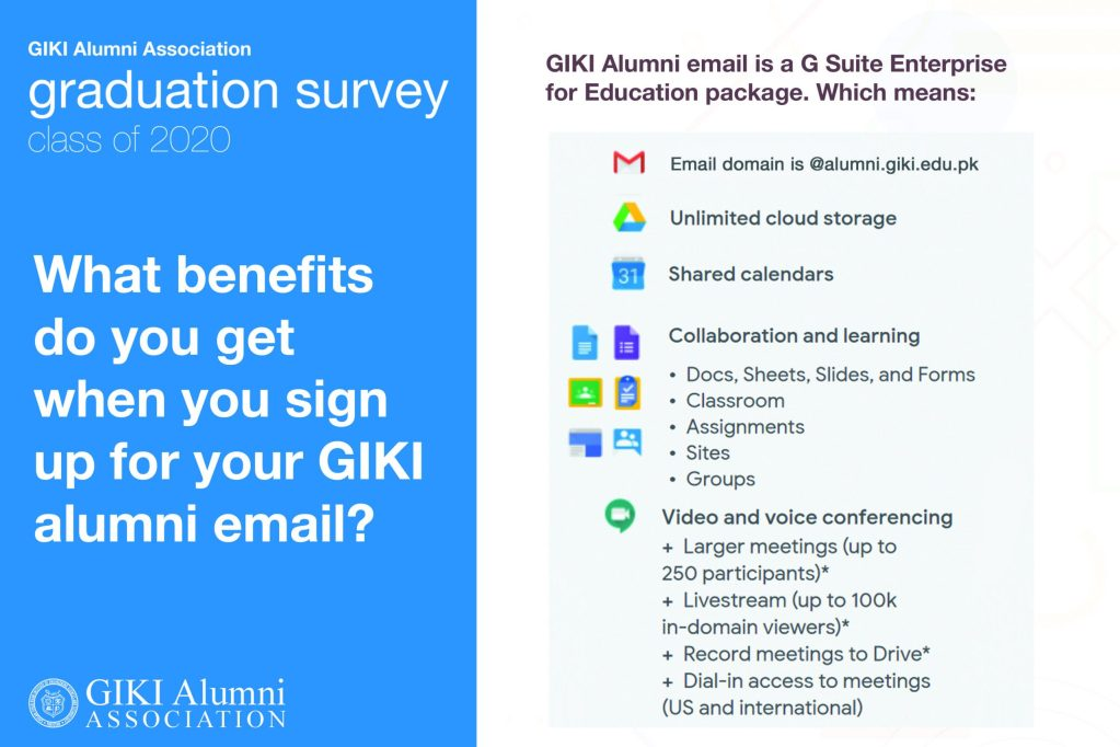 A poster that shows the benefits of having a GIKIAA email.