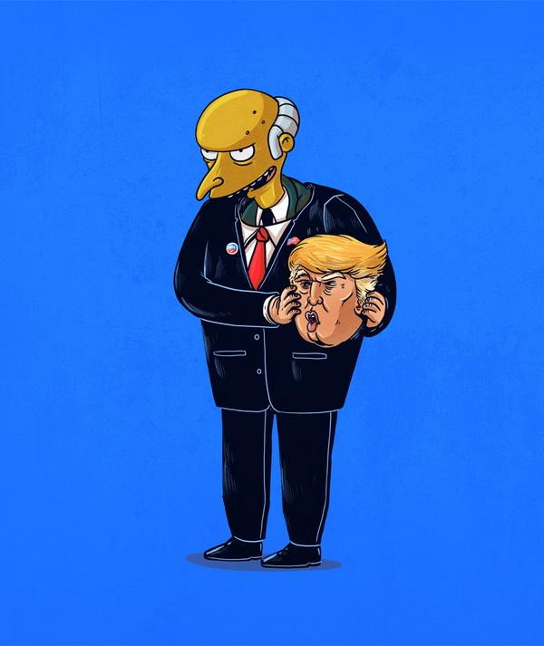 Дональд Трамп без маски