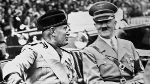 Benito Mussolini and Adolph Hitler