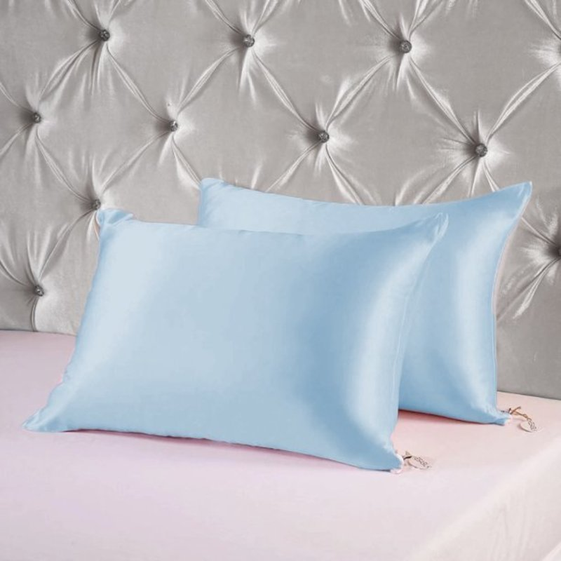 satin pillowcase for hair and skin silk pillowcases set of 2 with envelope closure with hidden zipper satin pillow case spc