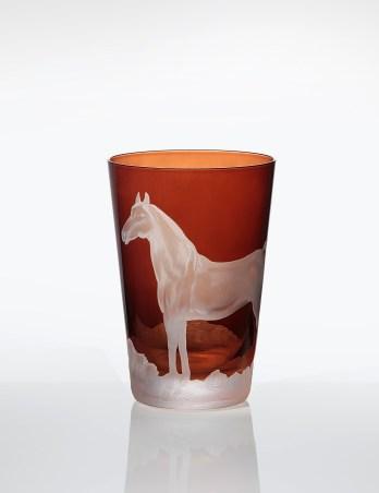 Horse Tumbler in Mahogany