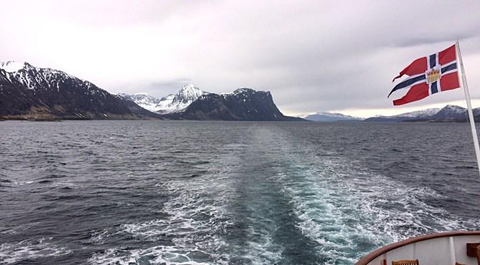 Un bateau en mer de Norvège