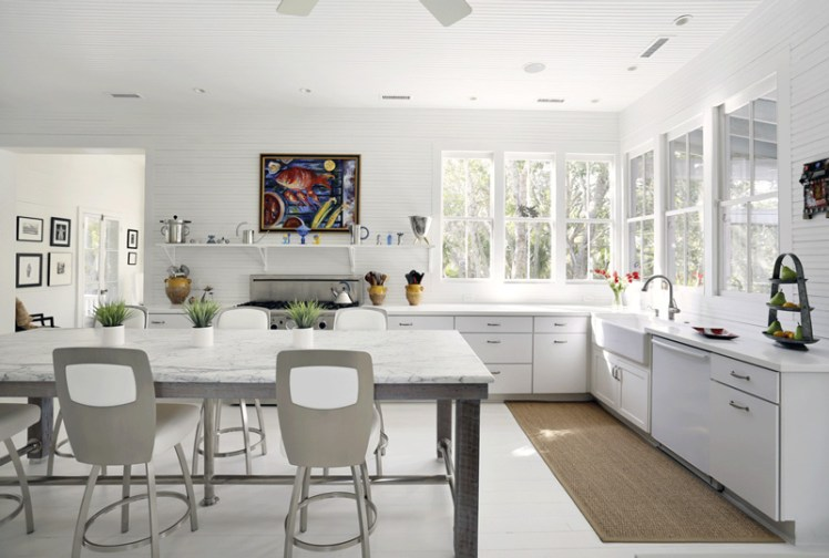 5 Unusual And Gorgeous Kitchens With No Upper Cabinets