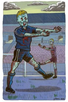 Foot Zombie (version 2) - Illustration : Gilderic