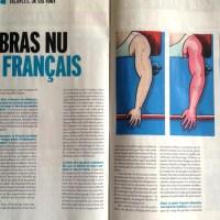Le bras nu du Français