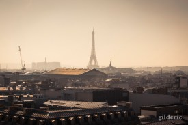 Panorama de Paris (Tour Eiffel depuis les Galeries Lafayette) - Photo : Gilderic