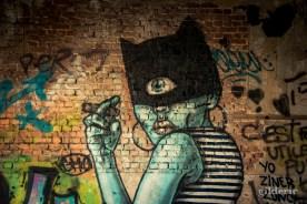 Catwoman cyclope graffiti - Fort de la Chartreuse
